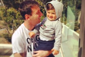 Messi y su hijo Thiago