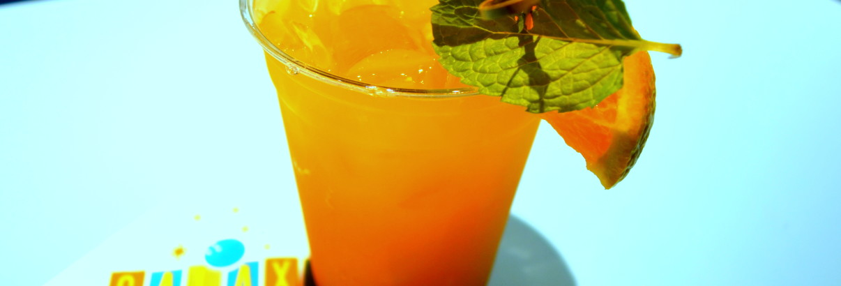 Jack o lantern cocktail with rum