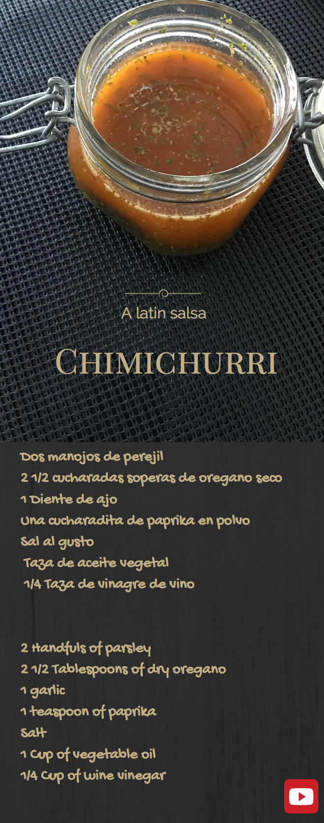 Chimichurri - ingredientes