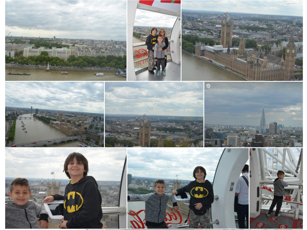London eye with kids